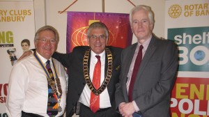 President Phil Cavill, DG Tim Cowling and Past President John Hansford