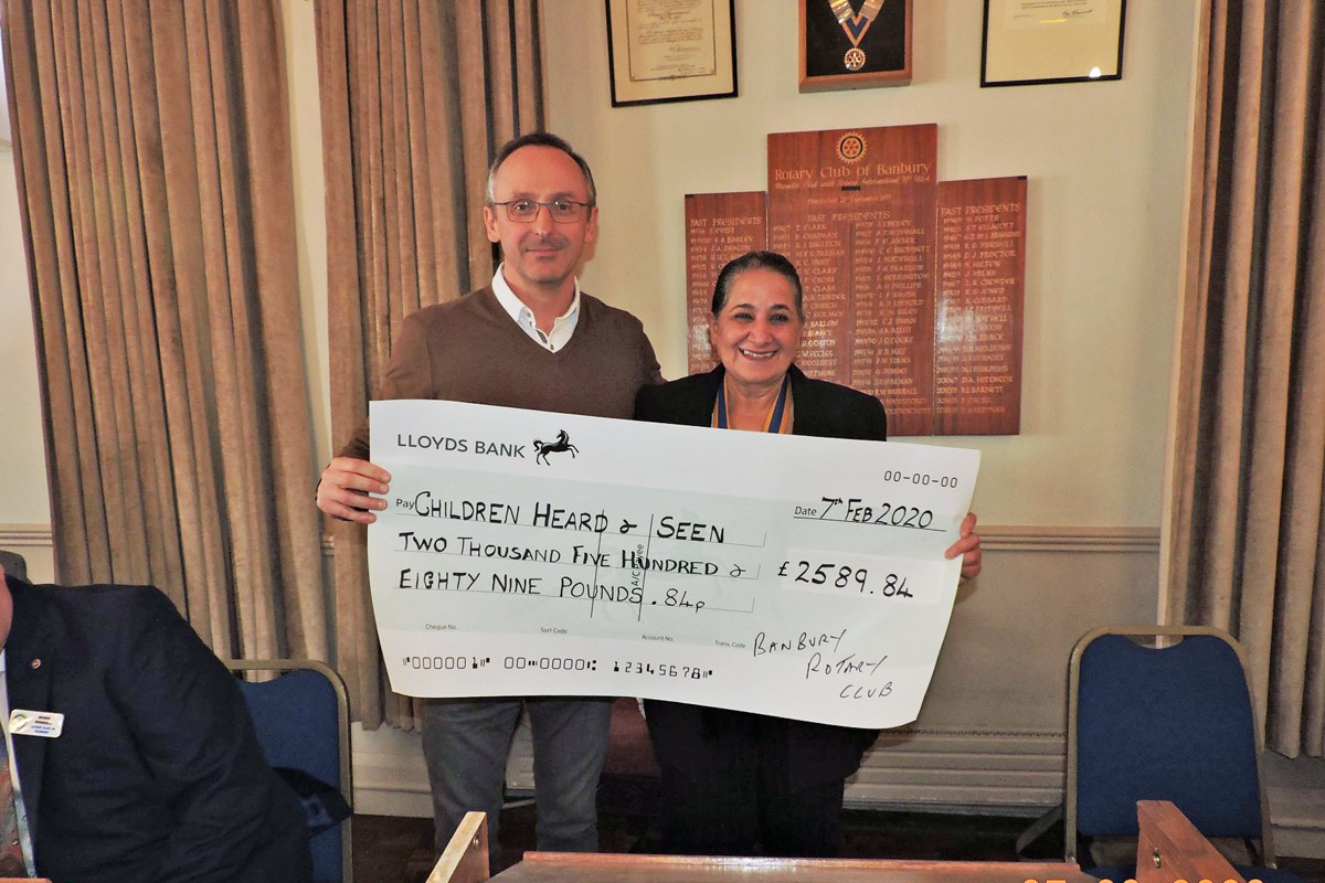Cheque  to Children Heard and Seen