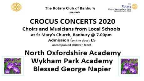 Crocus Concerts 12th Mar & 11th Jun 2020